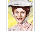 Mary Poppins Watercolour Portrait Art Print A4 / A3