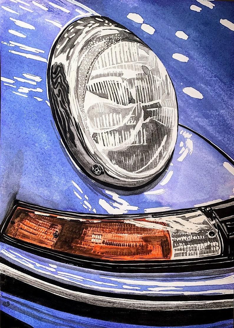 Porsche 911 930 964 original and unique painting image 0