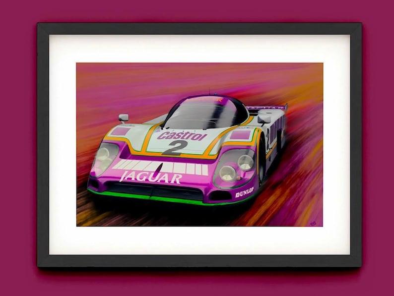 Jaguar XJR9 Painting Le Mans  A3/A4 Lustre Art Print image 0