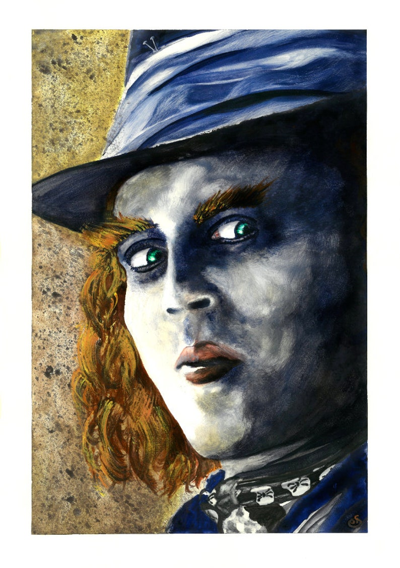 Mad Hatter A3 Watercolour Painting Giclee Fine Art Print image 0