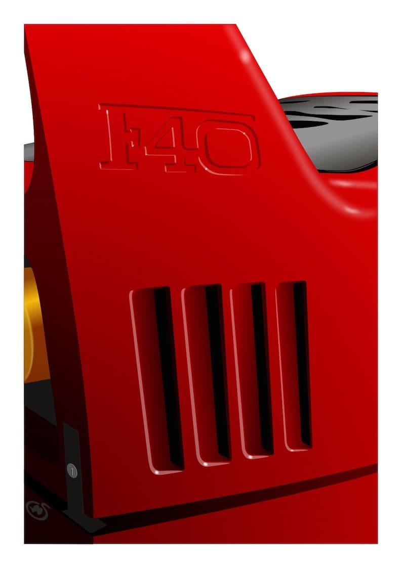 Ferrari F40 Fine Art Print an original artwork A4 A3 or A2 image 0