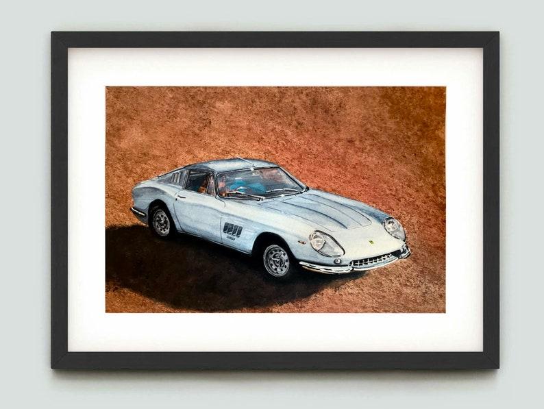 Ferrari 275GTB/4 Original watercolour painting. Supercar image 0