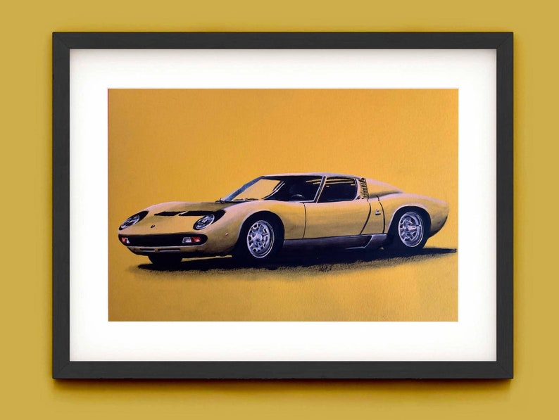 Lamborghini Miura Painting 1 of 1 original. Supercar wall image 0