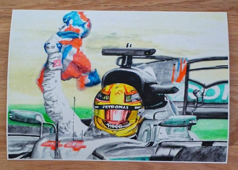Lewis Hamilton Limited Edition of One  a Giclée from an image 0
