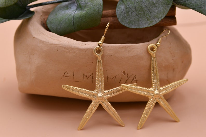 Starfish Earrings 24K Gold-Filled Earrings Gold Starfish Earrings Mother/'s Day Gift Minimalist Jewelry Unique Everyday Earrings