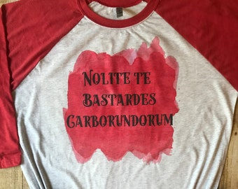 f87d3b1c1 Nolite Te Bastardes Carbondorum Shirt, Handmaids Tale Shirt, Unisex, Gift  for Mom, Raglan Shirt, Birthday Gift for Friend, Shirts for Women
