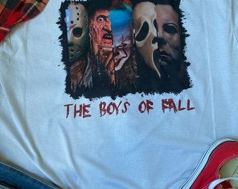 Halloween shirt for Women, Horror Movie Shirt, Fall Shirts, Unisex Shirt for Halloween, Shirts for Halloween, Boys of Fall Shirt