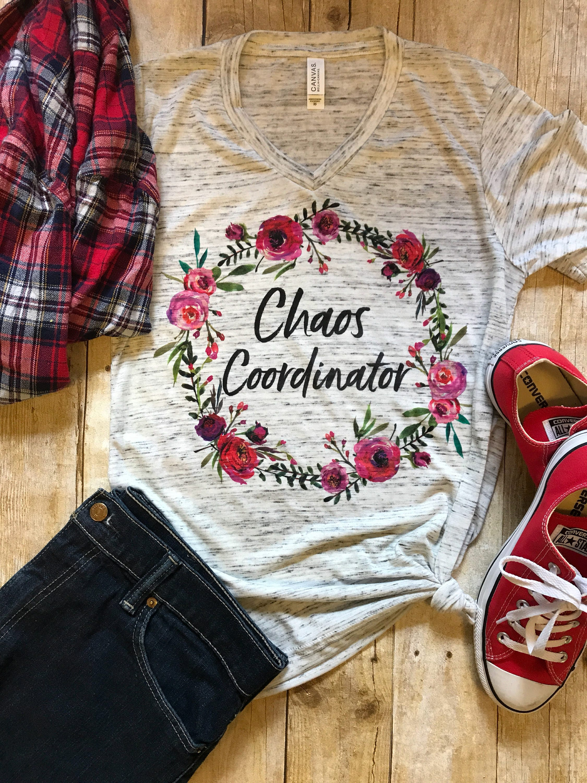 Chaos Coordinator Shirt Mom Shirt Christmas Gift for Teacher   Etsy