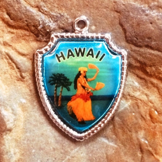Vintage Hawaii Charm Sterling Silver Charm Bracele