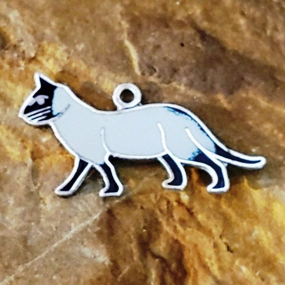 Cat Lovers Vintage Cat Charms Enamel Cat Charms