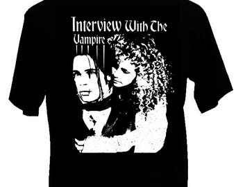 New Womens or Men Shirt Interview WIth The Vampire Anne Rice Gothic Post Punk Shirt Brad Pitt and Kirsten Dunst