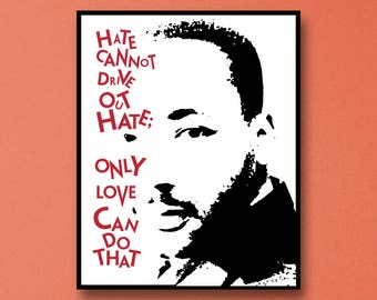 Martin Luther King Art Print - Martin Luther King Jr I Have A Dream Art - Martin Luther King Wall Art - Martin Luther King Jr Art - MLK Jr