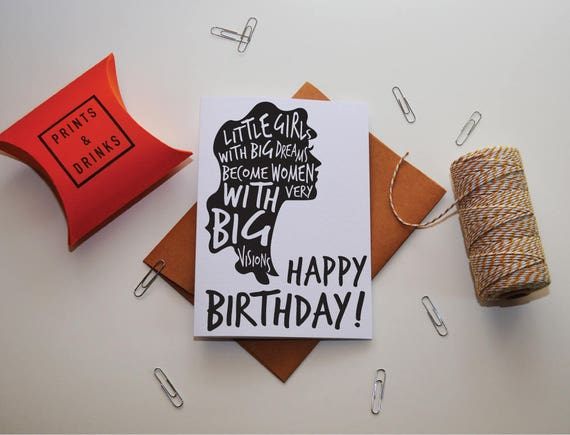 Feminist Birthday Card Boss Girl Card Birthday Card For Etsy