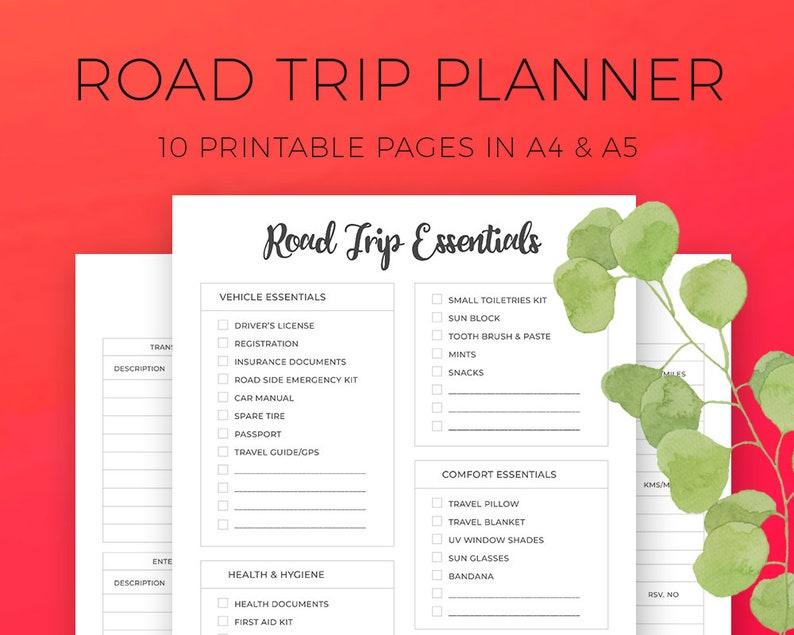 Car Trip Planner >> Road Trip Planner Car Journey Multi City Travel Planner Etsy