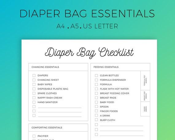 Diaper Bag Essentials Diaper Bag Checklist Baby Essentials