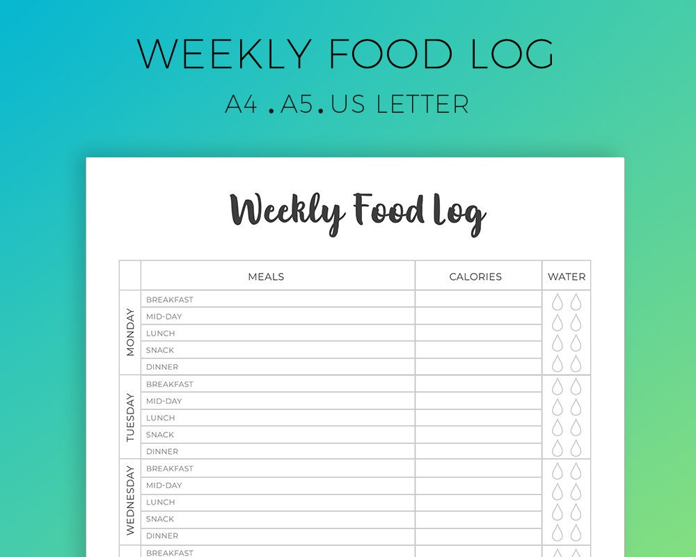 It's just a graphic of Massif Printable Food Tracker