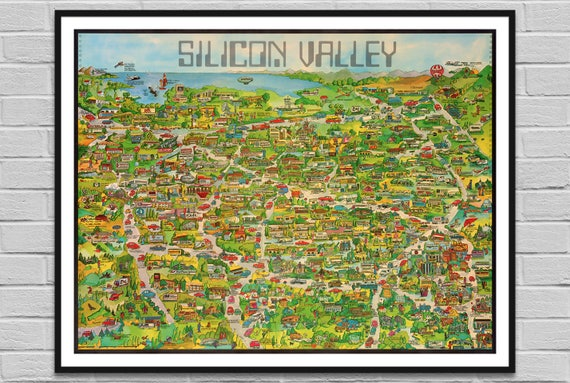 Silicon Valley / California map corp / US old map IT digital poster on driving directions, map of africa, map of north carolina, map of new york, map of pennsylvania, map of georgia, map of the world, map of china, map of ohio, map of the united states, map of tennessee, map of asia, map of us, map of france, map of texas, map of florida, map of south carolina, map of michigan, map of california,
