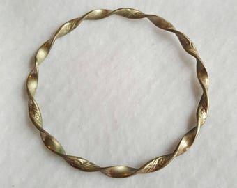 Vintage Sterling Silver Twisted Bangle Bracelet