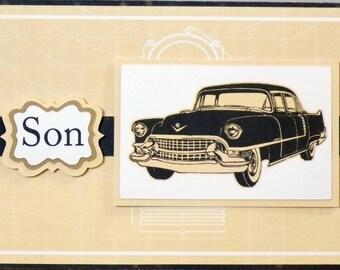 Son CLassic Car Birthday Card CGC 272