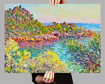Poster 50x70 cm Monte Carlo - Claude Monet Digital