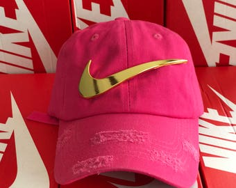 6c970a57879 ... sweden pink dad gold nike swoosh hat 14443 1b8ca