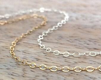 14k gold anklet Summer Anklet for Women Ankle Bracelet Sterling Silver Anklet Summer Anklets Beach Anklets Delicate Anklet Dainty Anklets