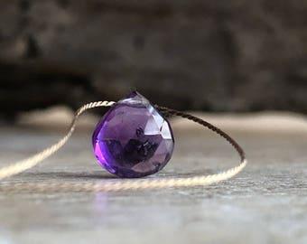 Amethyst Necklace, Amethyst Necklace Gold, 14k Amethyst Necklace, February Birthstone Amethyst Jewelry Dainty Amethyst Necklace ,Choker