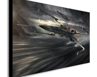X Wing Star Wars  - Canvas Wall Art Framed Print - Various Sizes