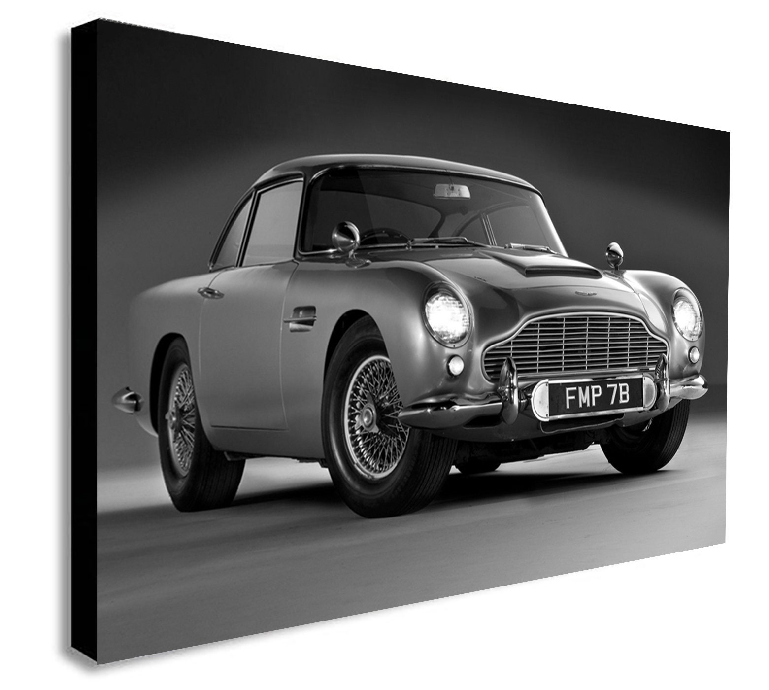 aston martin db5 james bond canvas wall art print | etsy