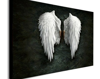 Banksy Angel Wings Canvas Wall Art Framed Print - Various Sizes