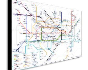 London Underground Tube Map Canvas Wall Art Print - Various Sizes