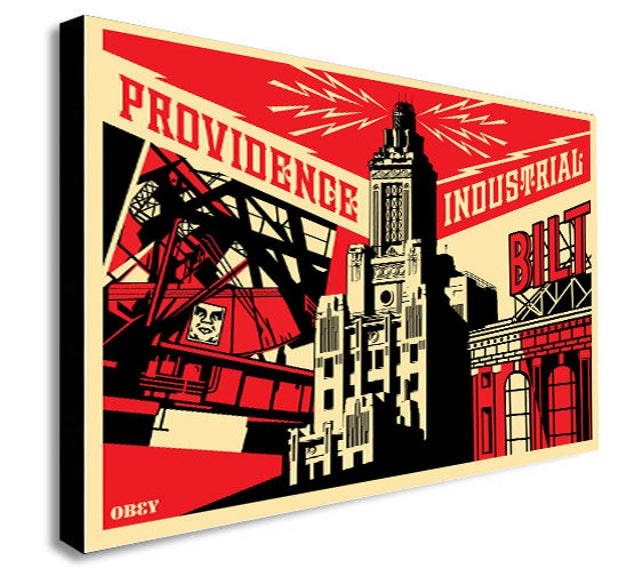 Providence Industrial Obey Canvas Wall Art Print Various | Etsy
