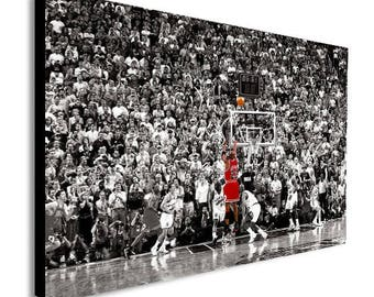 Michael Jordan Last Shot Canvas Wall Art Print - Various Sizes