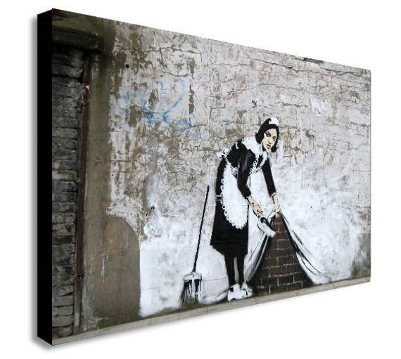 Banksy Maid A4//A3 Graffiti Art