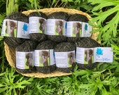 Pure alpaca charcoal grey yarn