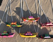 Origami boat necklaces
