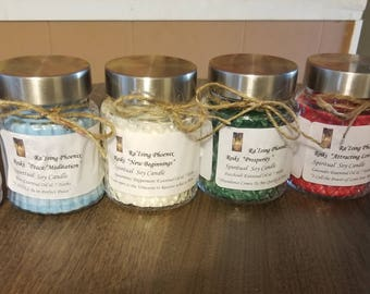 Raising Phoenix 6 Reiki Charged Candle Set