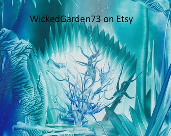 Neptune's Throne - Encaustic Fantasy Art (A5)