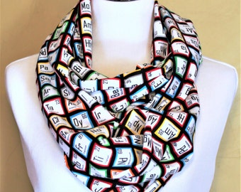 Periodic Table Infinity Scarf