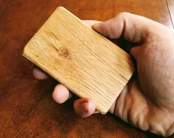 Pallet wallet etsy reclaimed oak pallet wood business card holder wallet reheart Choice Image