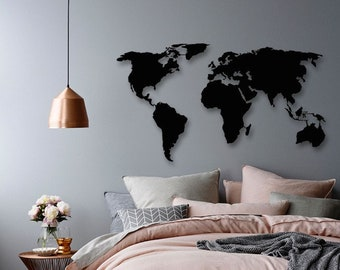 Map Wall Decor Etsy