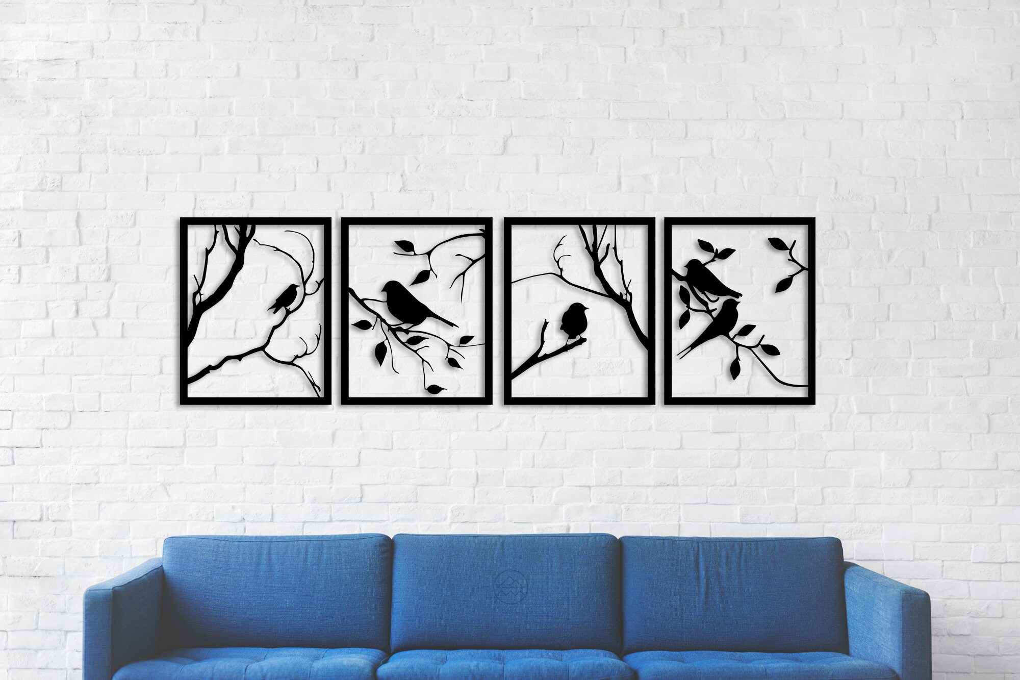 Tree Branches with Lovely Birds, 20 Pieces Metal Wall Art, Rustic Wall  Decor, Christmas gifts, Living Room Home Decor, New Home Gifts