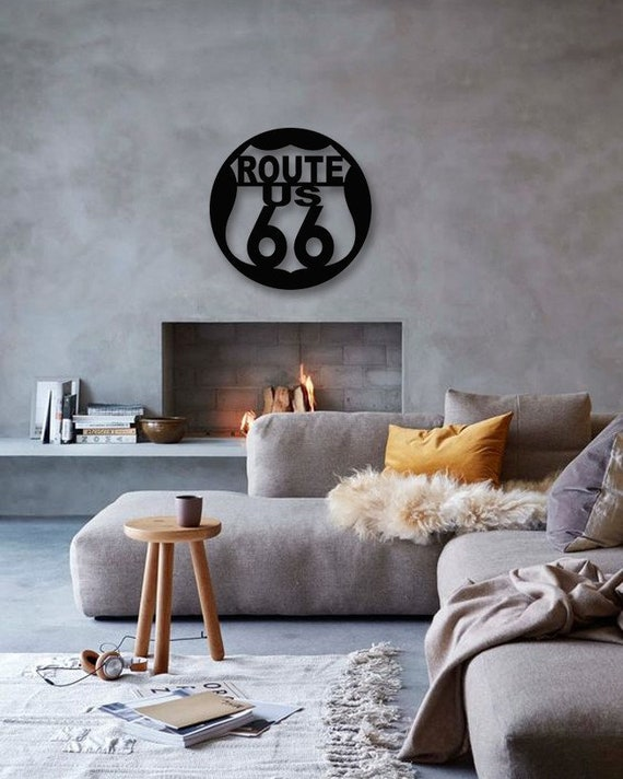 Route 66 Design Metal Wall Art, Wall Sconces, Living Room Wall  Decor,Bedroom Wall Decor,Metal Wall Hanging, Modern Wall Art, Home sign
