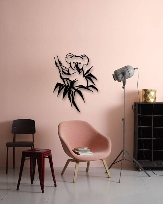 Good Metallic Wall Decor Part - 18: Koala Metal Wall Deco Animals Metal Art Wall Decor Metallic | Etsy