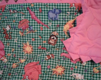 Pink Elephant with pink picots and back