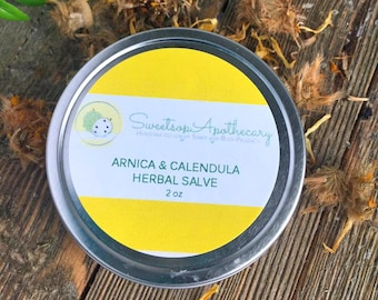 Arnica and Calendula Herbal Salve, Arnica Salve, Calendula Herbal Salve, Calendula Salve, Salve For Itch, Sore Muscle Rub, Sore Muscle Salve