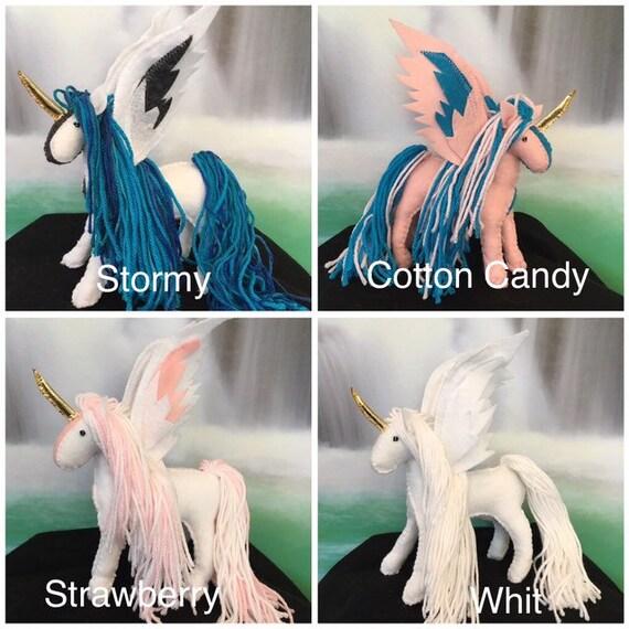 Tangled Custom Pegasus Unicorn Stuffed Horse and Moana