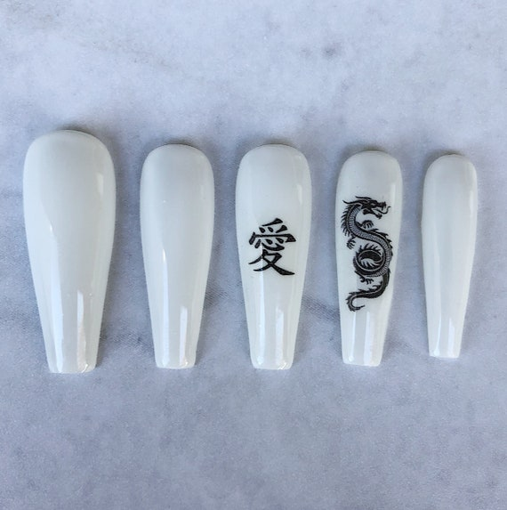 Chinese Character Love Dragon Press On Nails Fake Nails Etsy Vk is the largest european social network with more than 100 million active users. chinese character love dragon press on nails fake nails false nails glue on nails