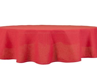 Red Tablecloth | Linen Tablecloth | Round Tablecloth | Table Linens | Tablecloth | Table Cover | Linen | Organic Tablecloth |Oval Tablecloth