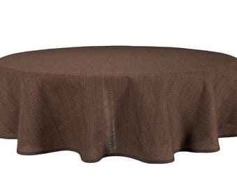 Linen Tablecloth | Table Linens | Tablecloth | Round Tablecloth | Table Covers | Linen | Brown Tablecloth | Organic Tablecloth | Oval Table